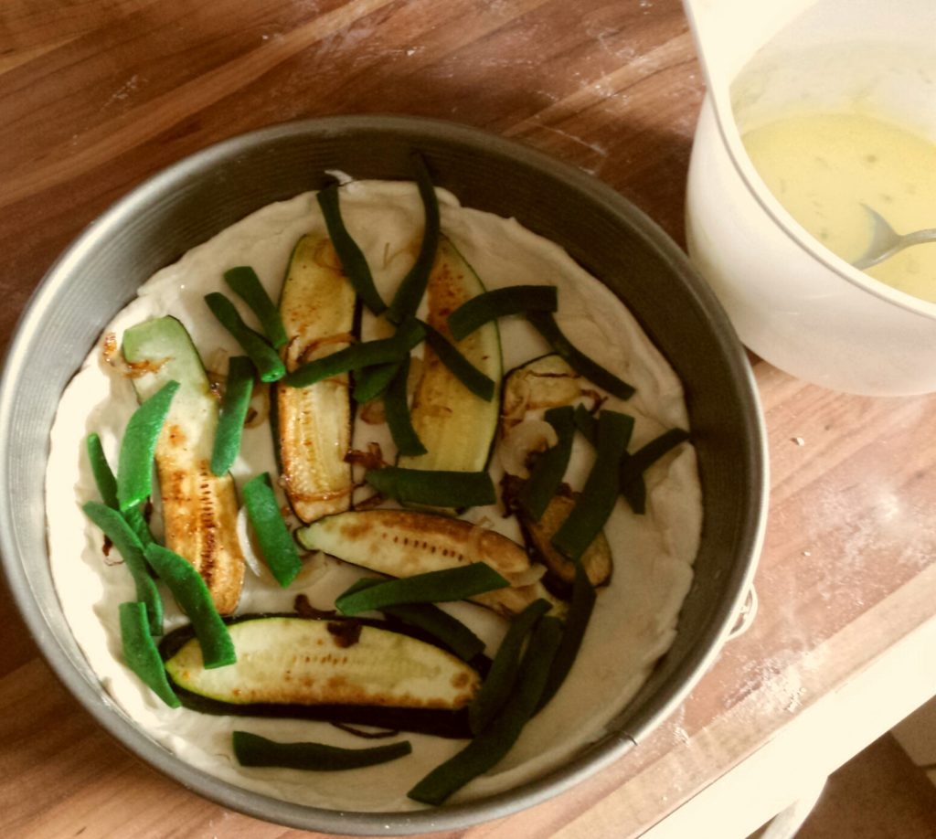 Quiche mit Bohnen und Zucchini